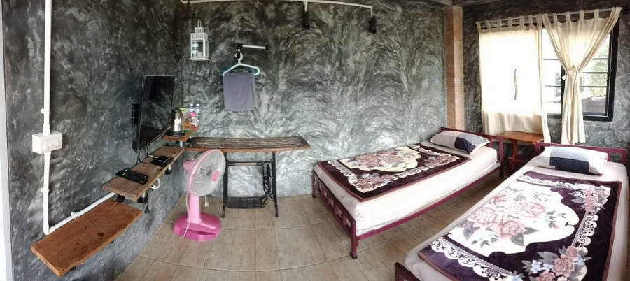 ห้องเตียงคู่โซน My loft - ปิล็อก ฮิลล์ เฮาส์