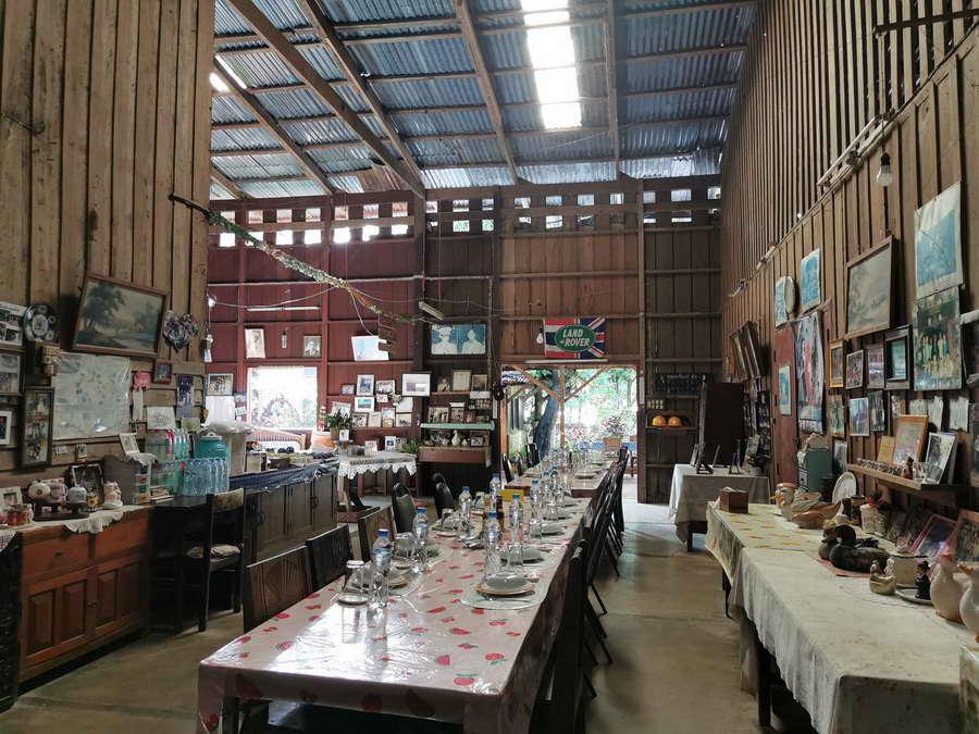 ห้องรับประทานอาหาร - เหมืองสมศักดิ์ โฮมสเตย์ป้าเกล็น