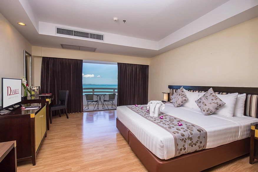 ห้อง DELUXE วิวทะเล - โรงแรมดี วารี จอมเทียน บีช พัทยา