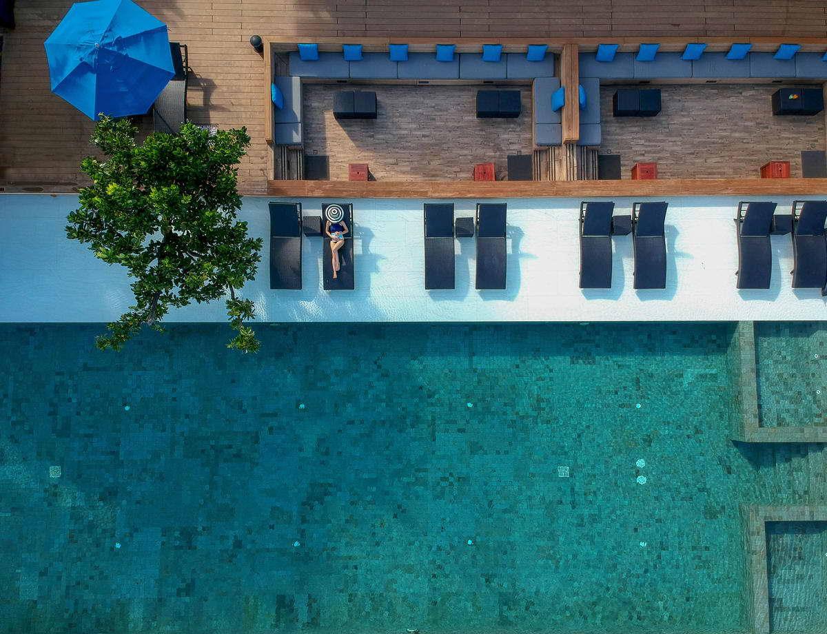 สระว่ายน้ำกลางแจ้ง - โรงแรมยู พัทยา