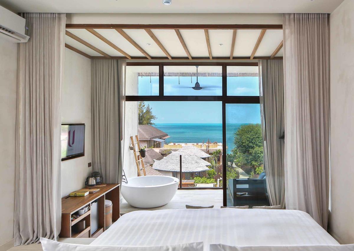 ห้อง Deluxe วิวทะเล - โรงแรมยู พัทยา